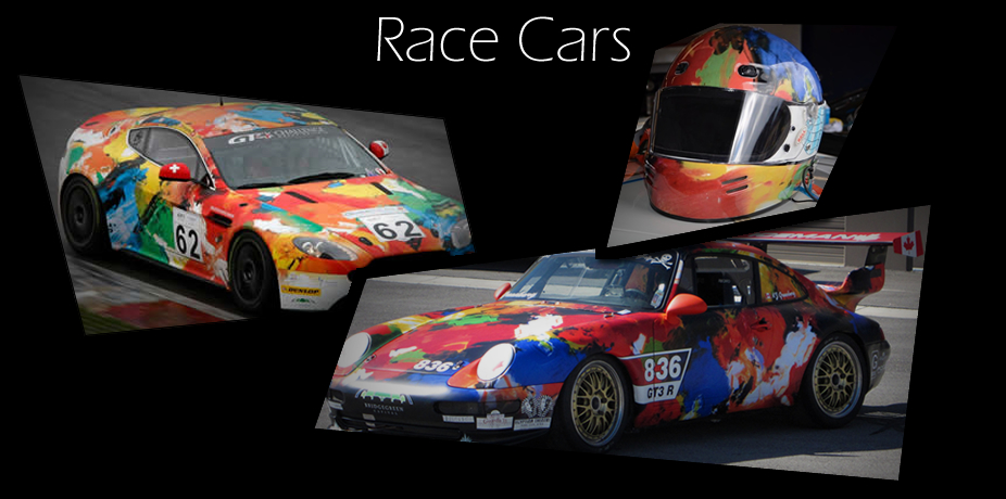 Race Cars with helmet
